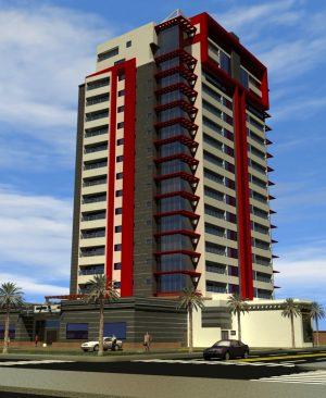 پروژه کامل برج تجاری - مسکونی