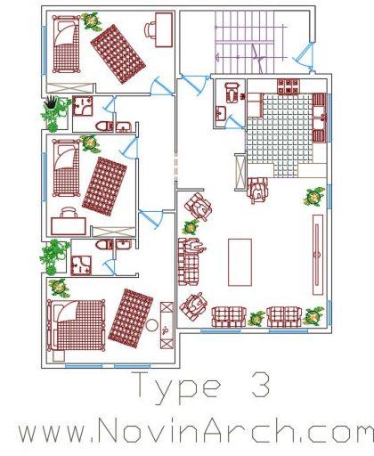 پلان تیپ 03 مجتمع مسکونیپلان تیپ 03 مجتمع مسکونی
