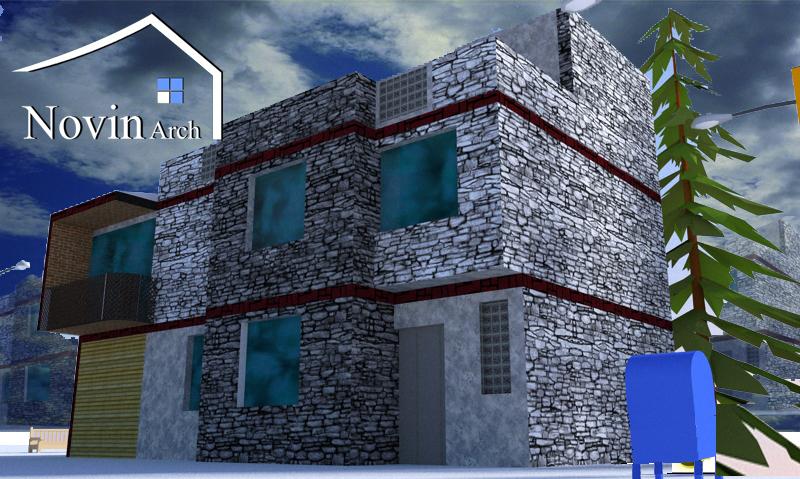 پروژه معماری خانه روستایی