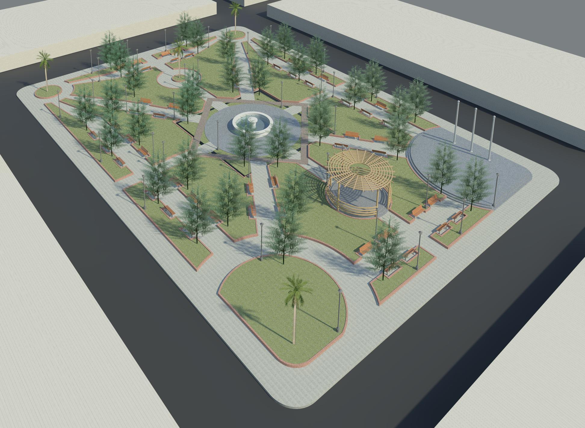 پروژه معماری طراحی پارک (بوستان)