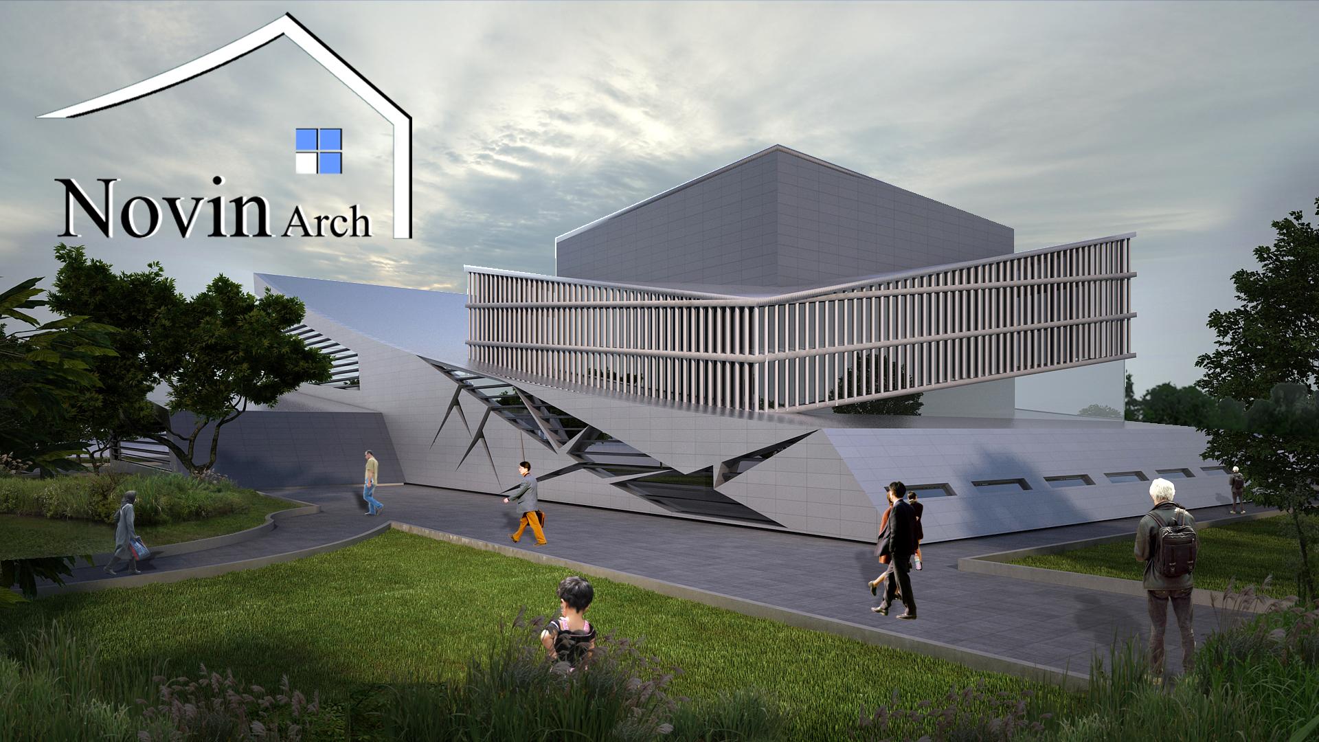 پروژه معماری سالن سینما