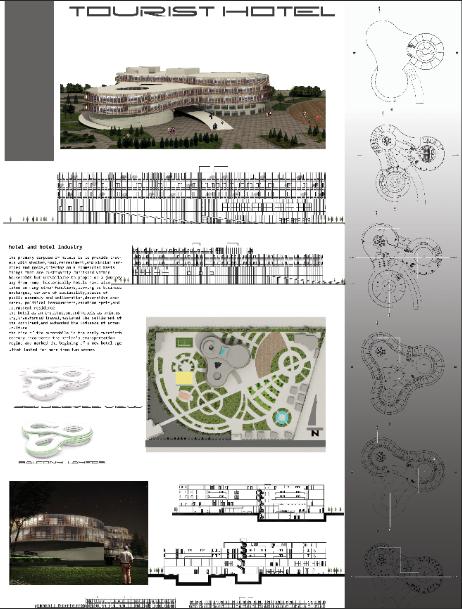 شیت بندی پروژه معماری طراحی هتل (تفریحی - توریستی)