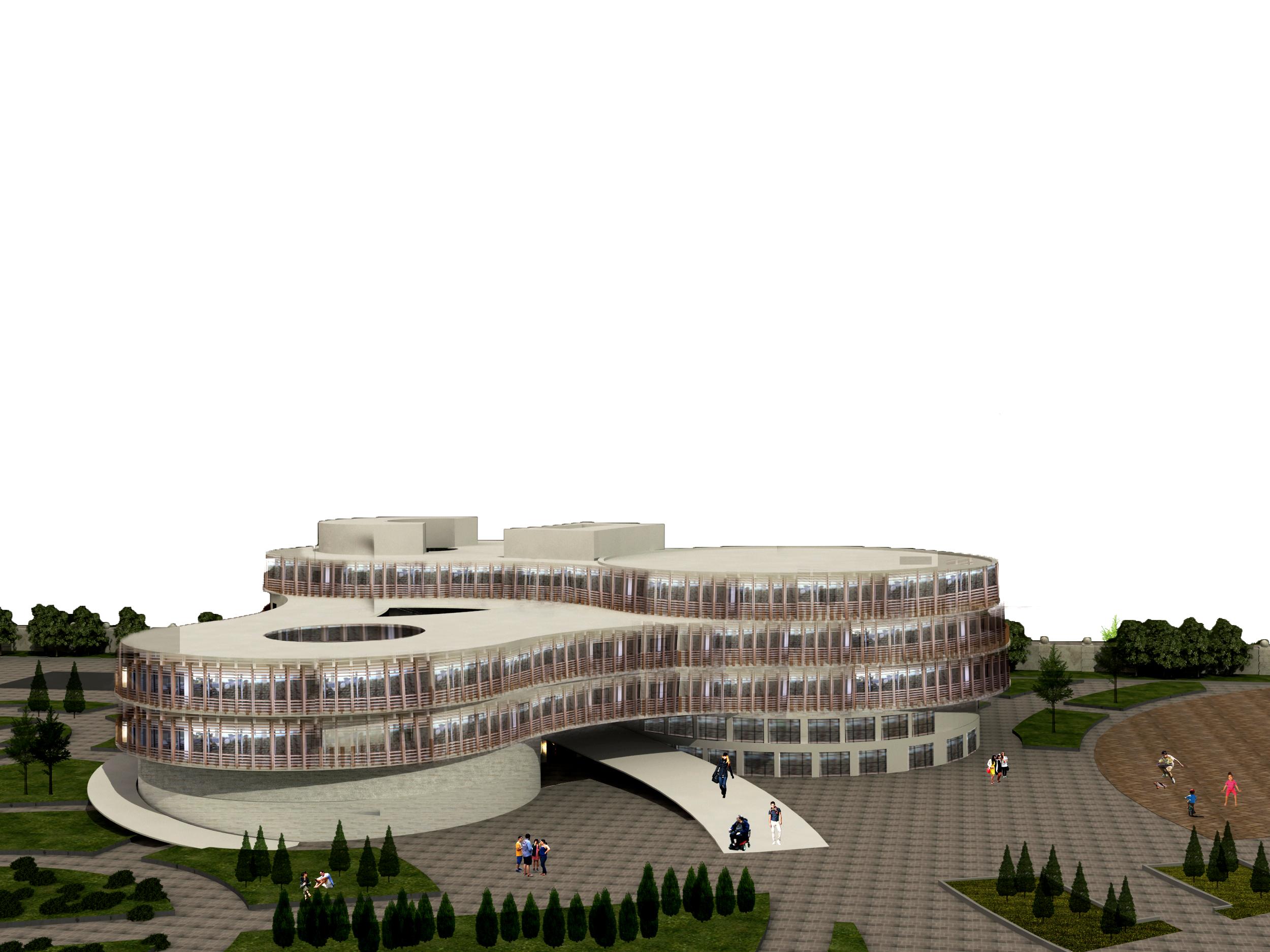 پروژه معماری طراحی هتل