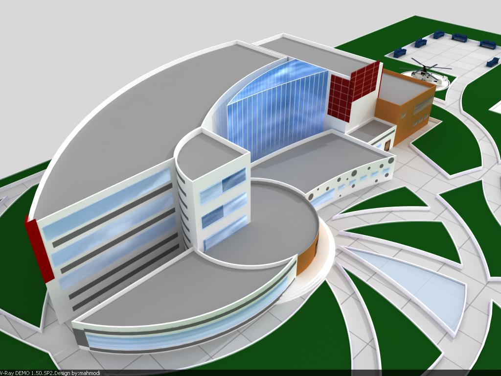 پروژه معماری بیمارستان طرح 4