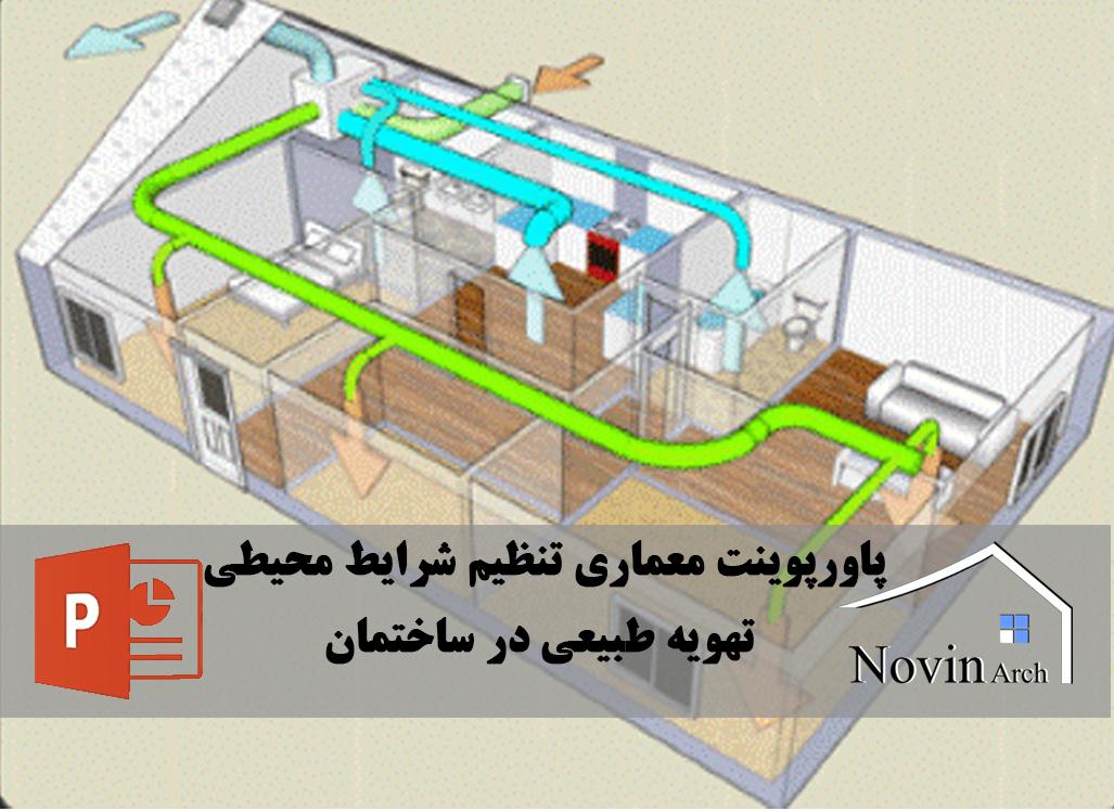 تهویه طبیعی در ساختمان
