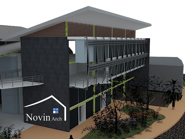 پروزه معماری فروشگاه تجاری