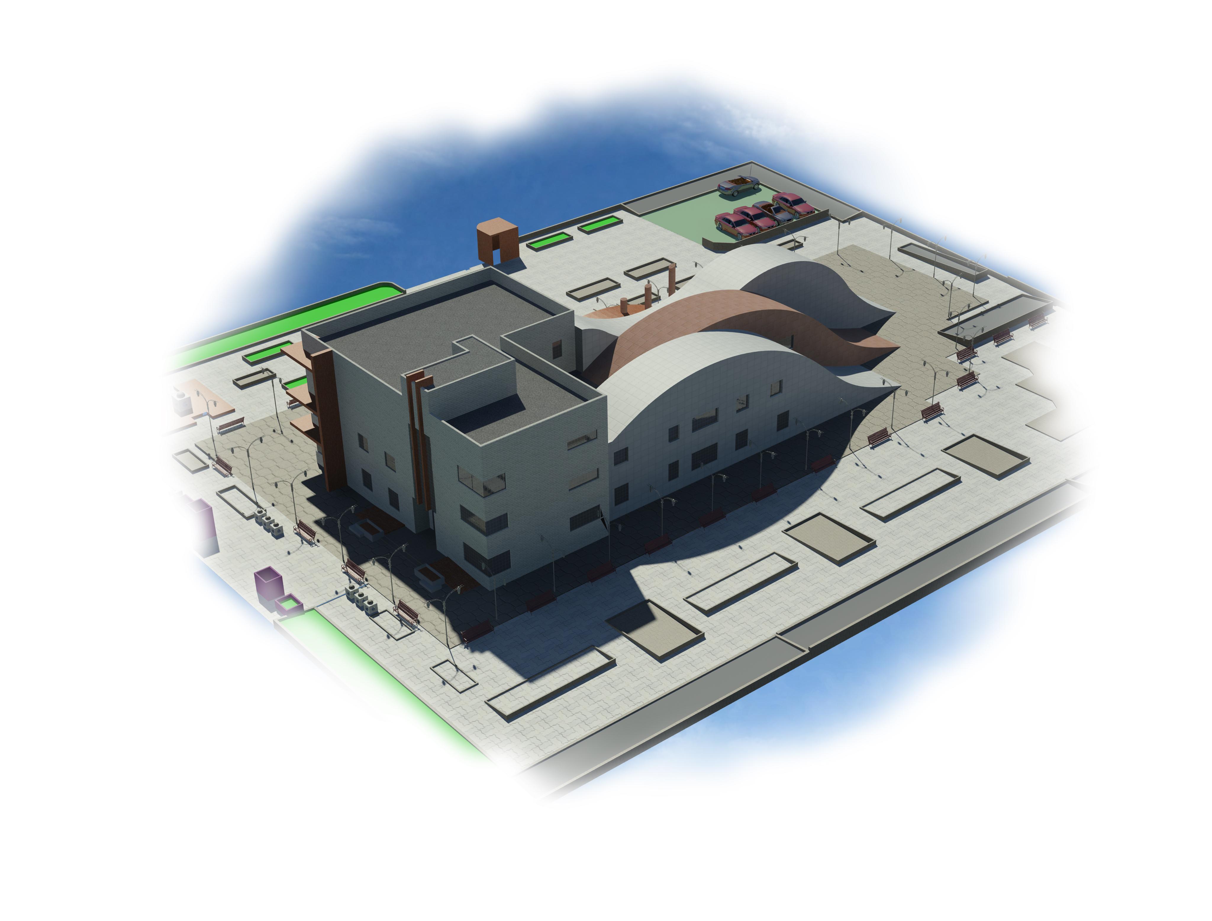 پروژه معماری طراحی کتابخانه (طرح 4)