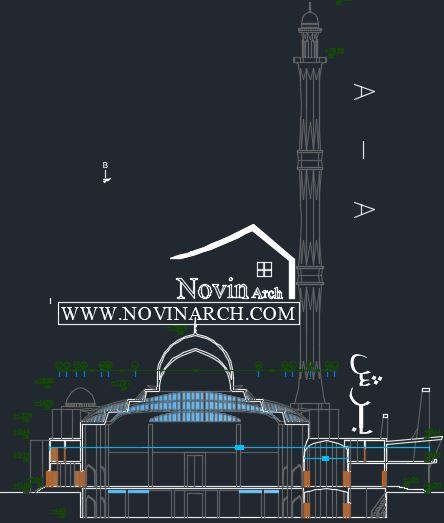 برش معماری مسجد