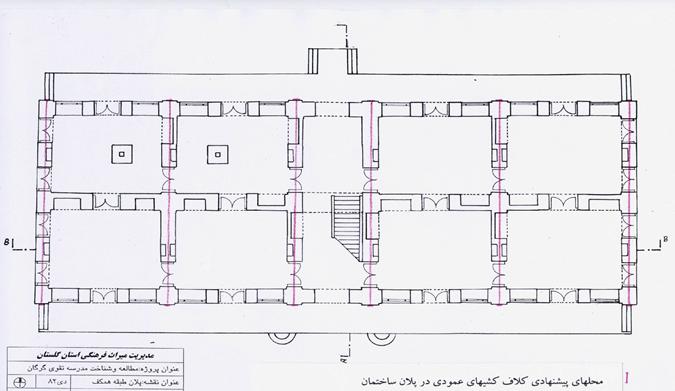 پلان مدرسه تقوی گرگان