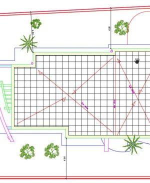 پلان بام پروژه معماری طراحی ویلا