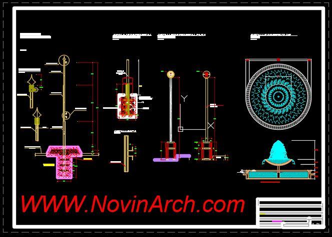 دیتیل های پروژه معماری طراحی پارک (بوستان)