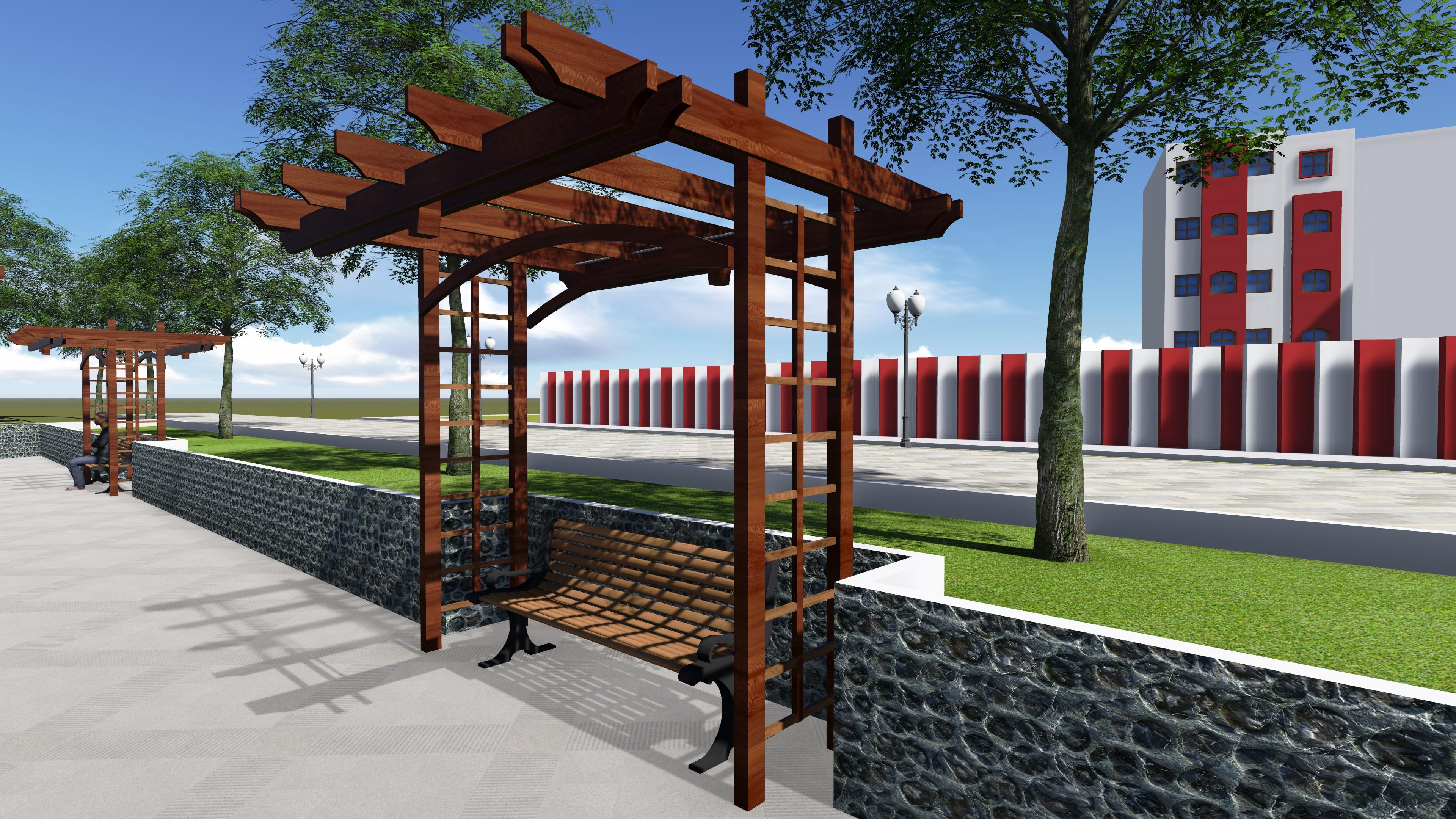 پروژه طراحی معماری پارک (بوستان)