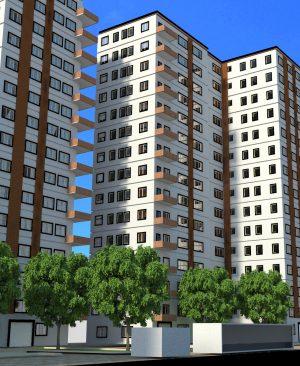 پروژه معماری مجتمع مسکونی سه واحدی