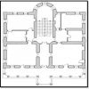 نقشه شماره 2 پلان طبقه اول عمارت فخرالدوله سرچشمه نگارنده