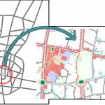 نقشه موقعیت فضا در کل شهر