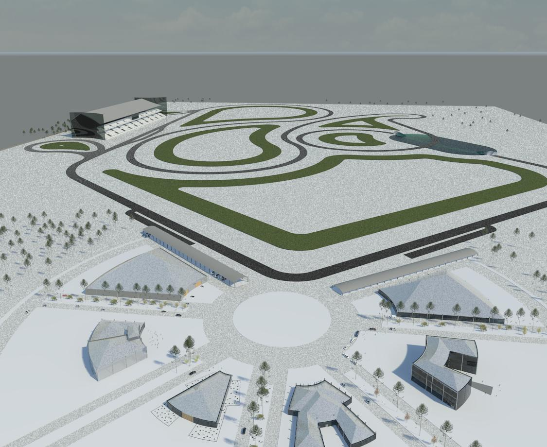 پروژه معماری طراحی پیست رالی و فرمول یک
