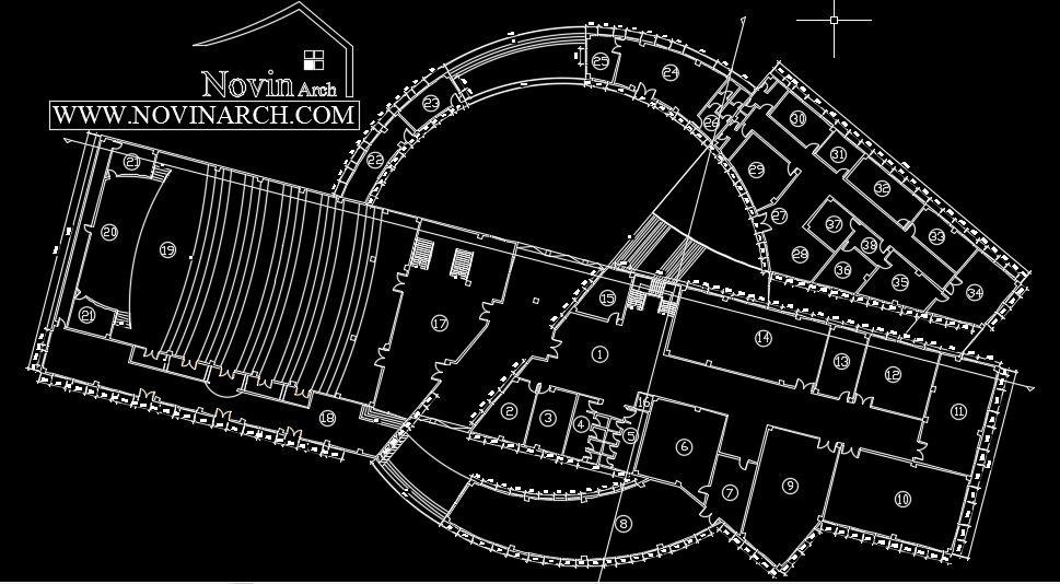 پلان پروژه معماری خانه علوم و فنون