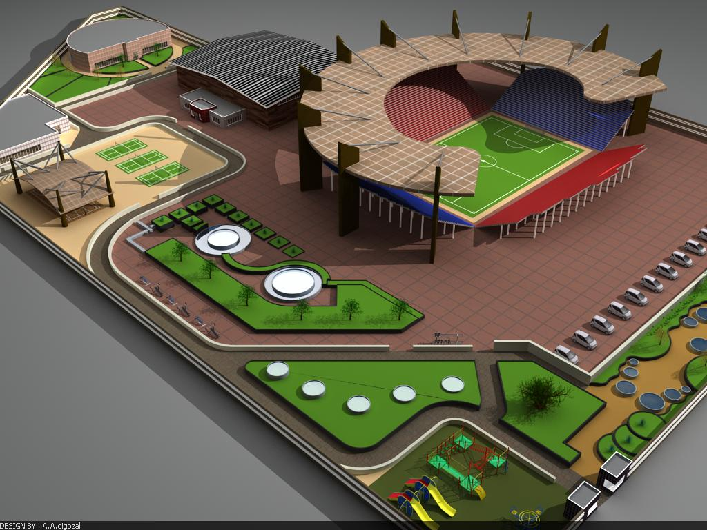 پروژه معماری مجموعه ورزشی
