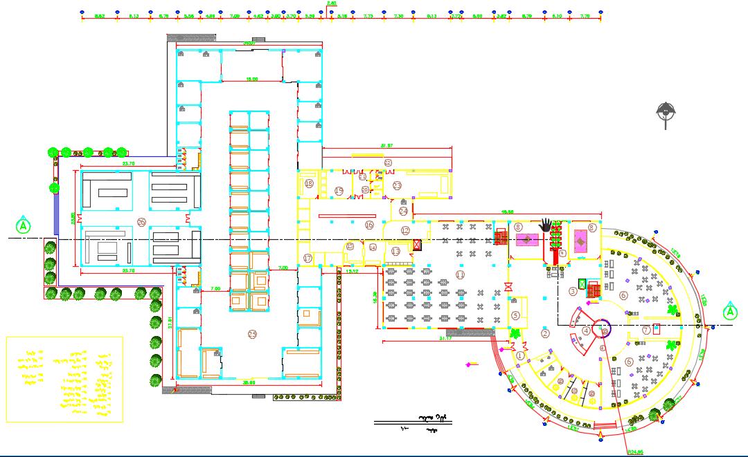 پروژه معماری طراحی مجتمع رفاهی-تجاری