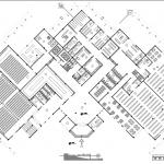 پلان طبقه همکف پروژه معماری طراحی کتابخانه عمومی در ارومیه