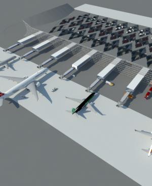 پروژه معماری طراحی فرودگاه