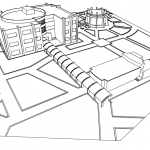 پرسپکتیو های پروژه معماری طراحی کتابخانه عمومی