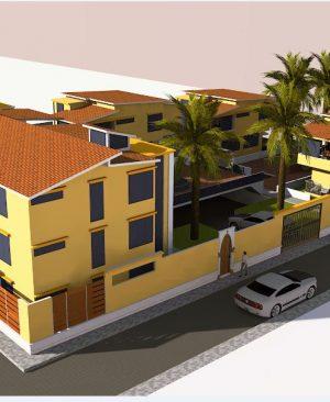 پروژه معماری مجموعه ویلایی