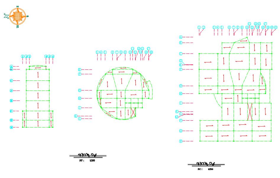 پلان تیرریزی پروژه معماری طراحی کتابخانه عمومی