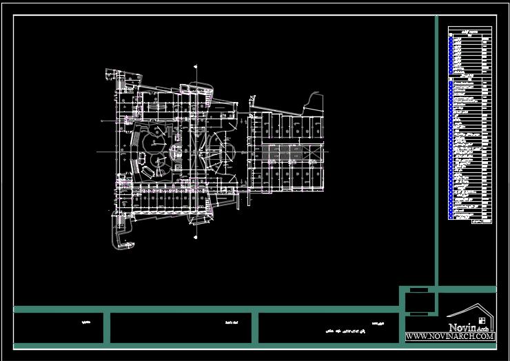 پلان اندازه گزاری طبقه سوم وچهارم