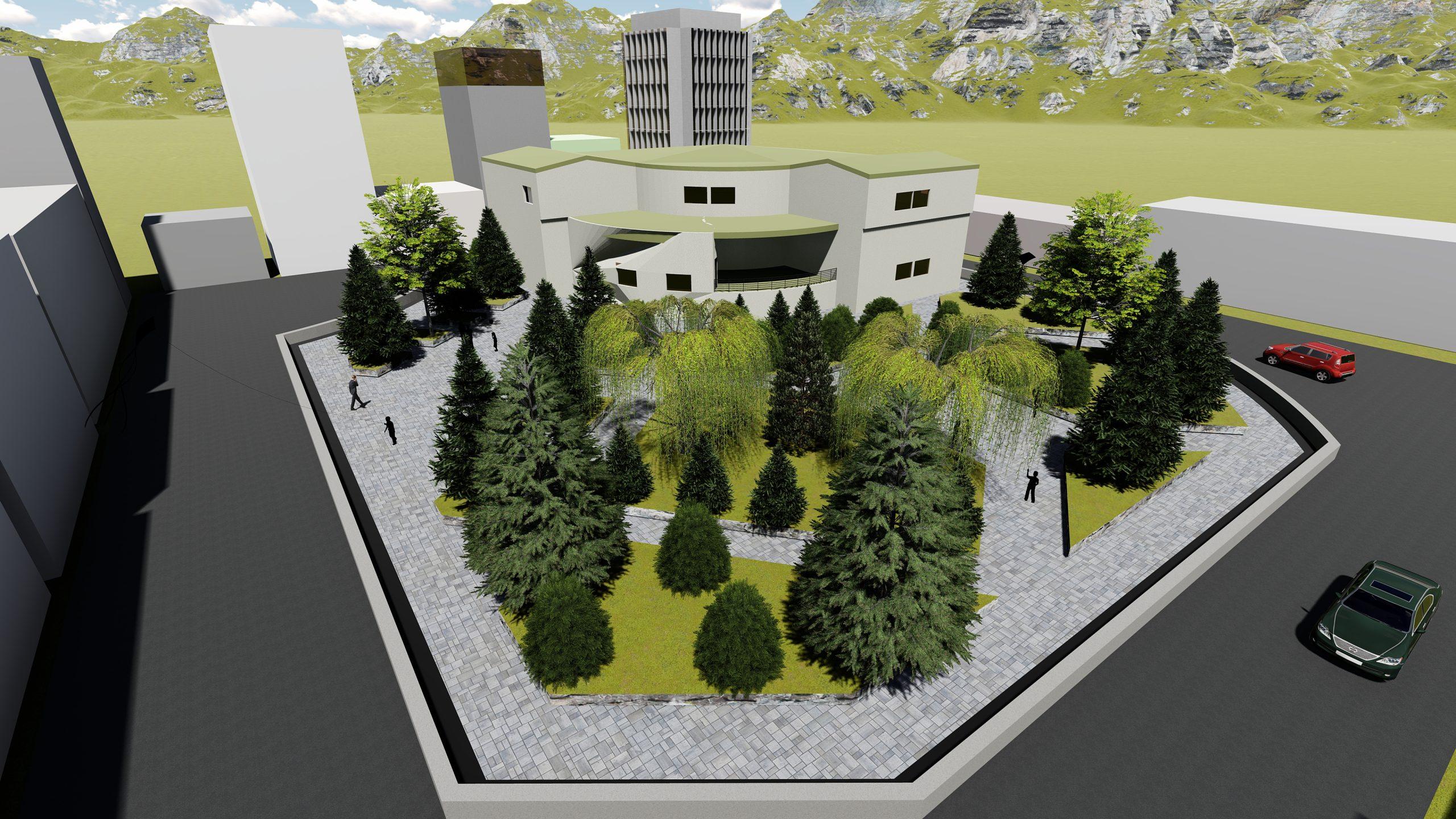 پروژه معماری طراحی کتاب فروشی