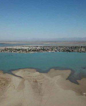 دور نمایی از روستای بندر کرگان