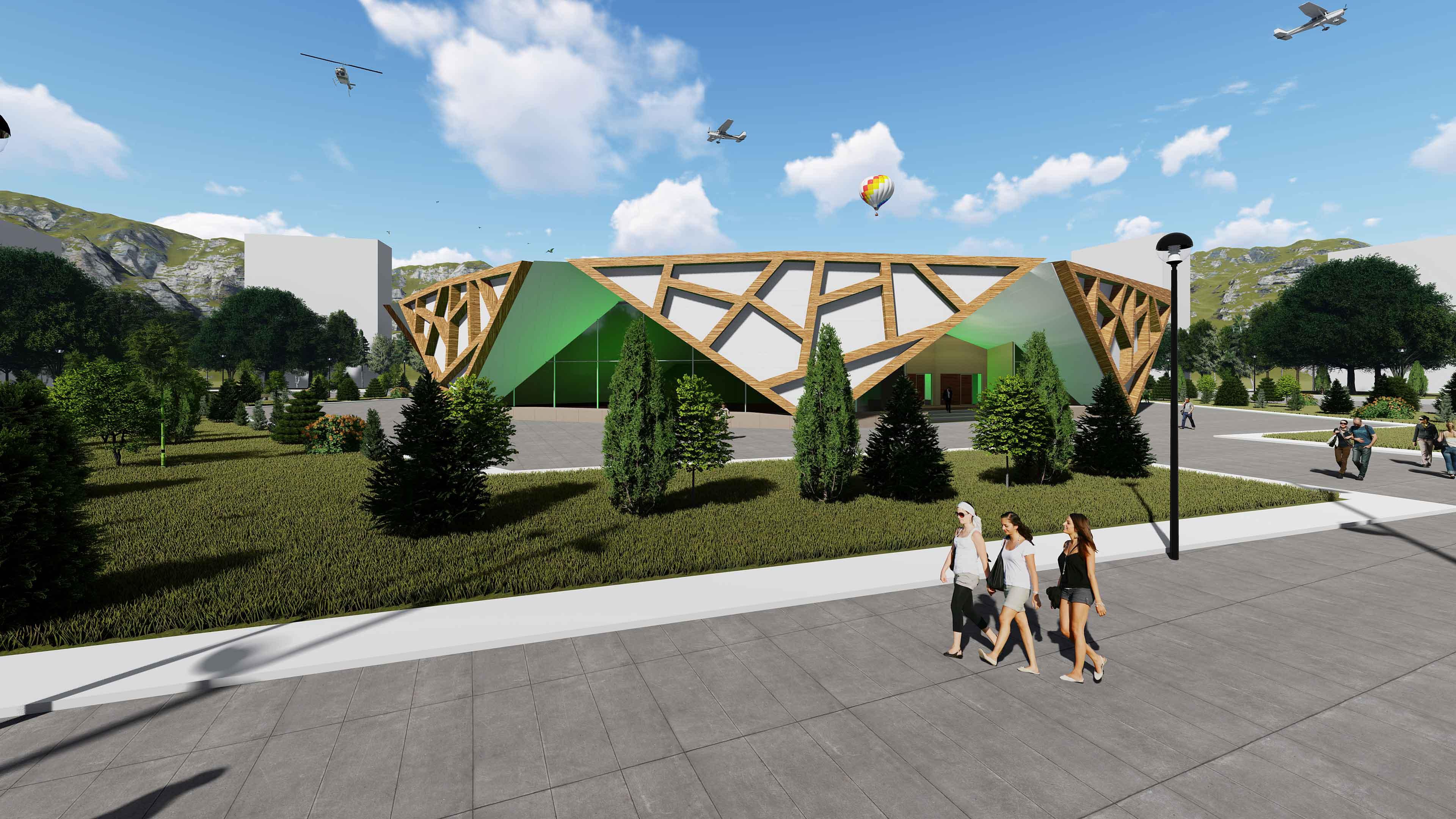 دانلود پروژه طراحی معماری موزه جواهرات