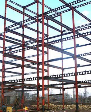 ساختمان با اسکلت فلزی
