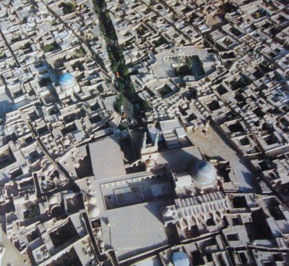 عکس هوایی از مسجد جامع یزد