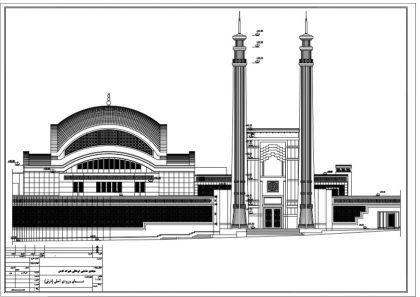 نمای شرقی مسجد جامع شهرک غرب