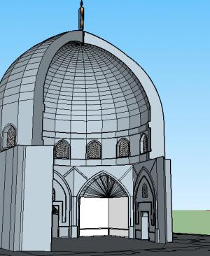 فایل سه بعدی گنبد خانه مسجد شیخ لطف الله